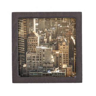 New York Rooftops - Skyscrapers in Sunlight Premium Jewelry Boxes