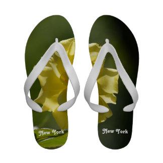 New York Roses Flip-Flops