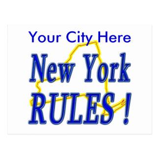 New York Rules ! Postcard