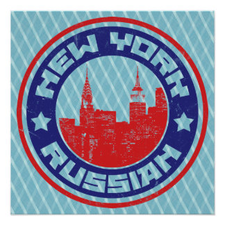 New York Russian American Posters