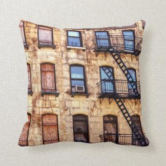 New York Rustic Building Pillows