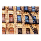 New York Rustic Building Postcard