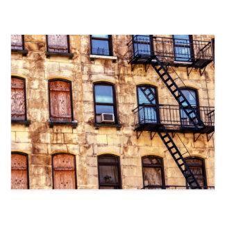 New York Rustic Building Post Card