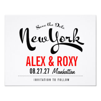 NEW YORK Save the Date Card