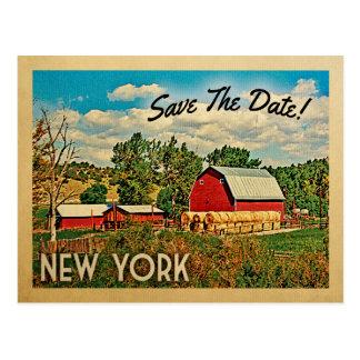 New York Save The Date Farm Barn Rustic Postcard