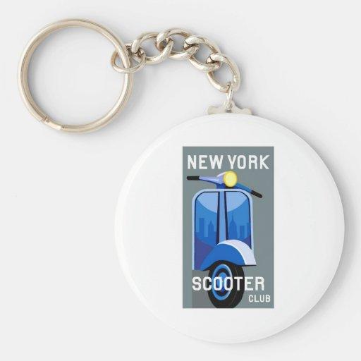 New York Scooter Club Keychain