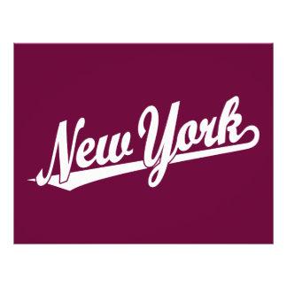 New York script logo in white Flyer