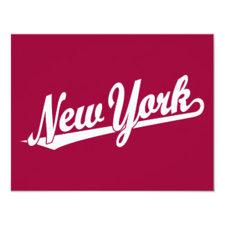 New York script logo in white Personalized Announcements