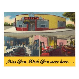 New York, Sideshow Bar & Restaurant Postcards