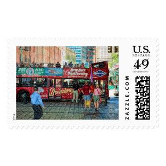 New York Sightseeing Postage Stamp