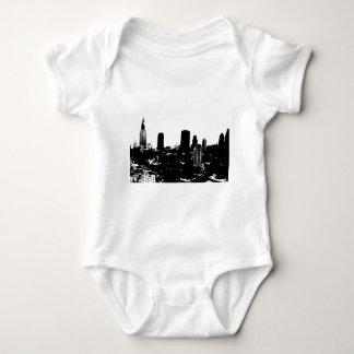 New York Silhouette Baby Bodysuit