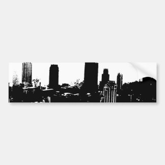 New York Silhouette Car Bumper Sticker