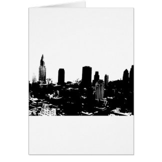 New York Silhouette Card