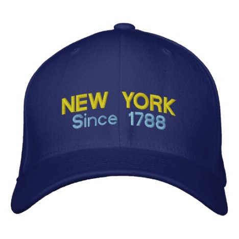 New York Since 1788 Embroidered Baseball Hat