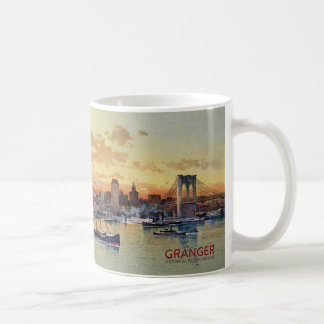 NEW YORK SKYLINE 1896 COFFEE MUG