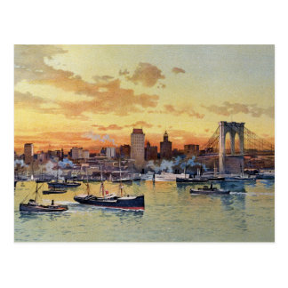 NEW YORK SKYLINE 1896 POSTCARD