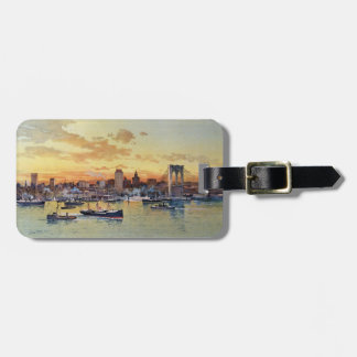 NEW YORK SKYLINE 1896 TAG FOR LUGGAGE