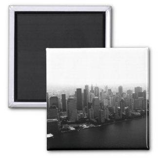 New York Skyline 2 Inch Square Magnet