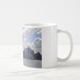 New York Skyline and Boat Coffee Mug