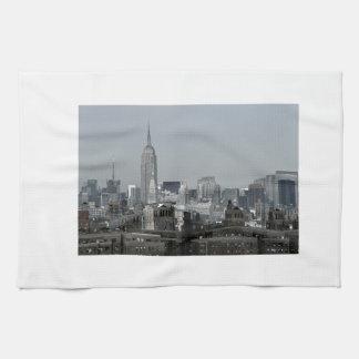 New York Skyline and Brooklyn Kitchen Towel