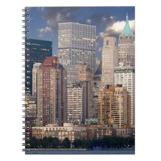 New York Skyline and the Manhattan Hudson River Notebooks