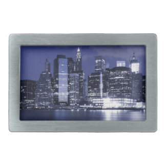 New York Skyline At Night Belt Buckle