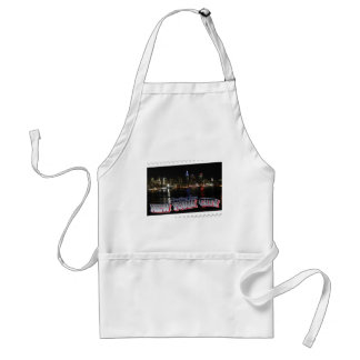 New York Skyline at Night Empire State Adult Apron