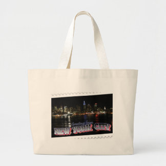 New York Skyline at Night Empire State Bags