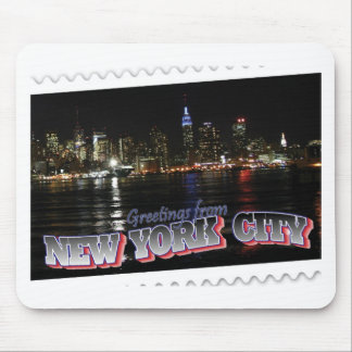 New York Skyline at Night Empire State Mouse Pad