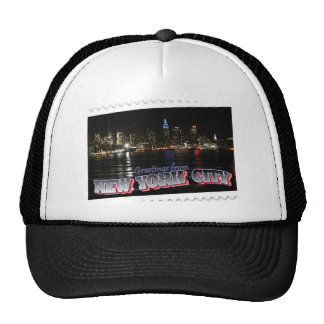 New York Skyline at Night Empire State Trucker Hat