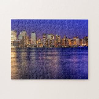 New York Skyline at Sunset Puzzle