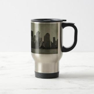 new york, skyline, B&W, vintage Coffee Mugs