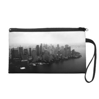 New York Skyline Wristlet Purses