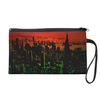 New York Skyline Wristlet Purses