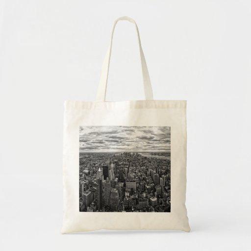 New York Skyline Canvas Bag