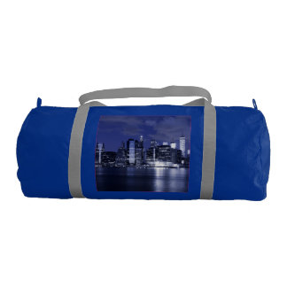 New York Skyline Bathed in Blue Duffle Bag