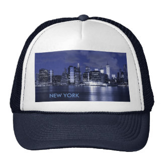 New York Skyline Bathed in Blue Trucker Hat