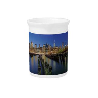 New York skyline Beverage Pitcher