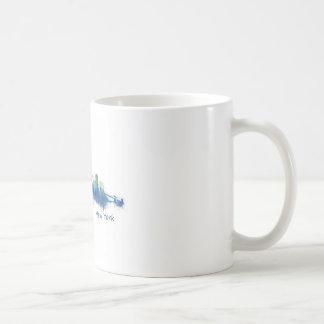 New York Skyline blue Watercolor v05 Coffee Mug