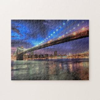 New York Skyline, Brooklyn Bridge Puzzle