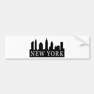 New York Skyline Car Bumper Sticker