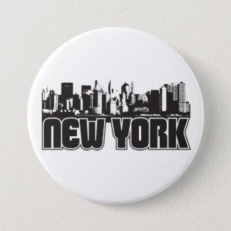 New York Skyline Button