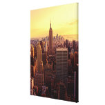 New York skyline city with Empire State Stretched Canvas Prints