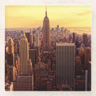 New York skyline city with Empire State Glass Coaster