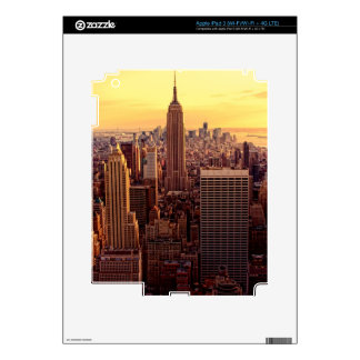 New York skyline city with Empire State iPad 3 Skin