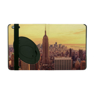 New York skyline city with Empire State iPad Cases