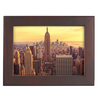 New York skyline city with Empire State Keepsake Boxes