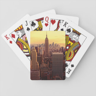 New York skyline city with Empire State Playing Cards