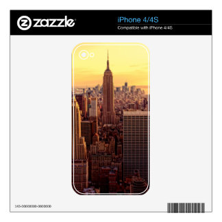 New York skyline city with Empire State Skins For iPhone 4
