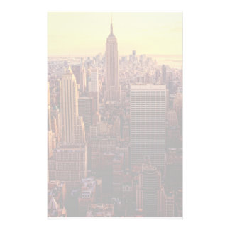 New York skyline city with Empire State Custom Stationery